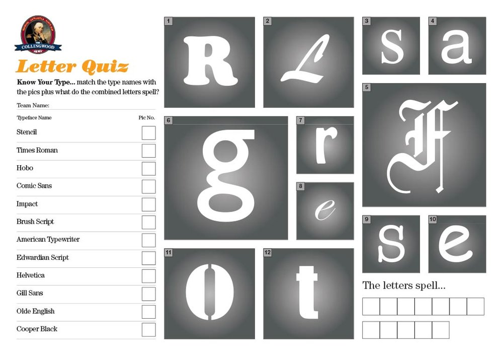 "The clue on the  Quiz Preview  this week was ""What's your favourite type?"", fairly straightforward we would have thought?"