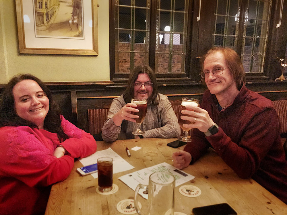 A depleted Spontaneous Wrecks team of Louise, Jon and Peter still had too much for the rest, winning Richard's well difficult Quiz by two points. Is there any teams out there that can give these masterminds a run for their money?