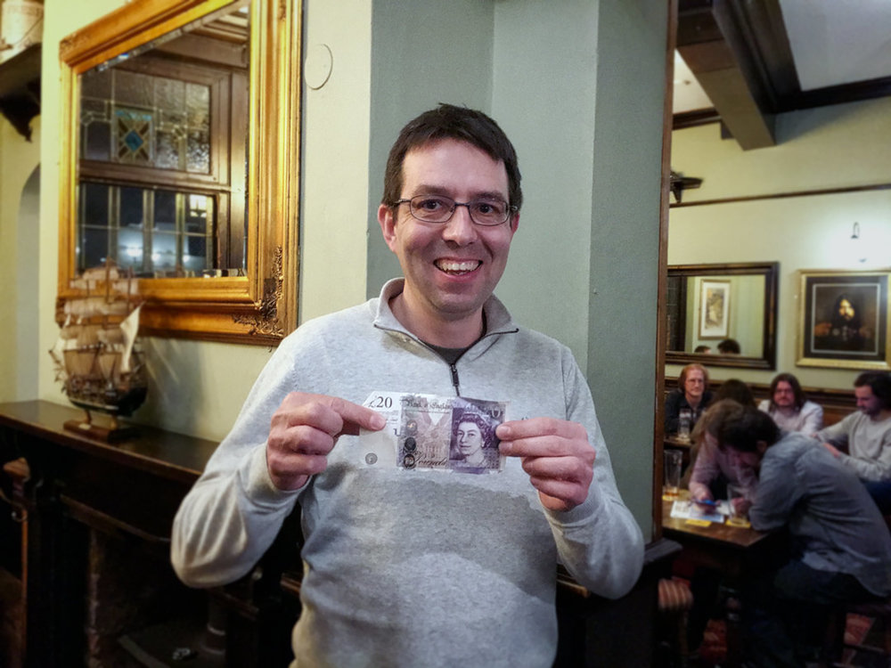 Four Fanny Drums were definitely on a roll on the night, team member Duncan also scored for the £20 Wild Card Prize.