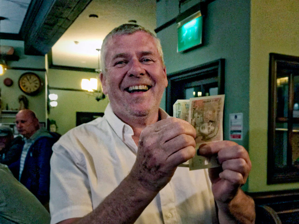 "It might have just been £18 this week but Wild Card Winner Phil ""The Power' Mac was still well chuffed. He can get himself another pair of outrageous arty trousers!"