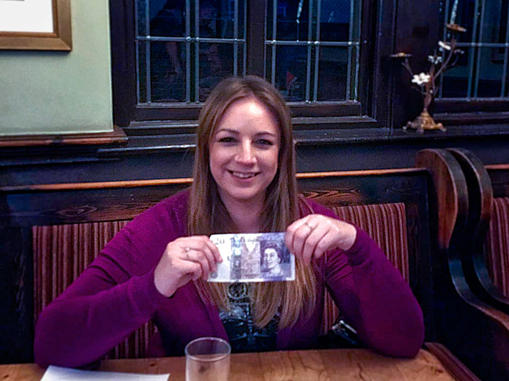 Well worth the wait! Three years of trying eventually paid off for Hazel... she went home with the £21 Wild Card Cash.