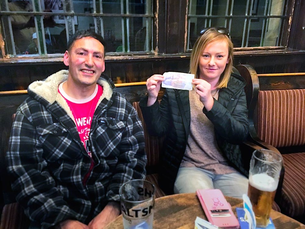 Our Wild Card Winners Martin & Jess were a bit hesitant about joining in but they were well glad they did after getting the closest answer and pocketing a crisp twenty pound note!