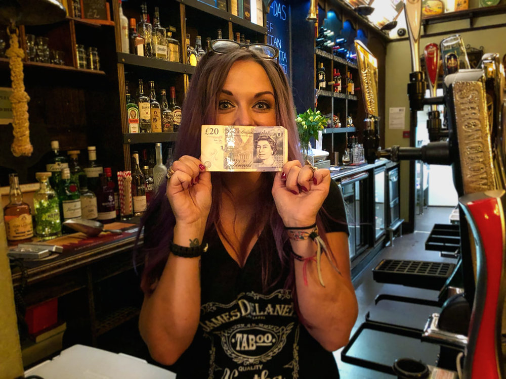 Would you believe it… our Wild Card Winner this week was our top Barmaid Gemma who only put her quid in to take the prize to £20.