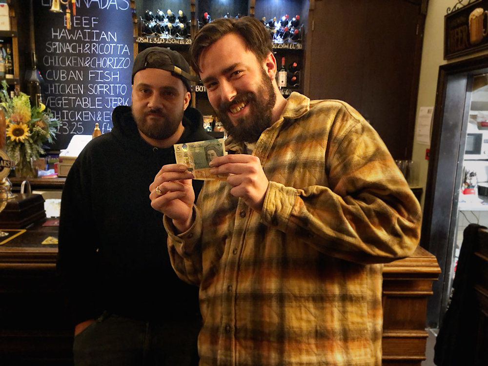 Wild Card Winner Jay with his £17 Cash Prize, his pal Luke, a close second, wasn't miffed though!