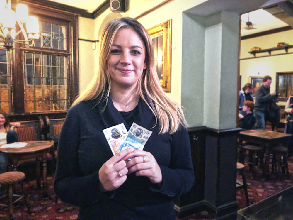 Hazel was on a roll… she drew the Cash Prize for the Quiz, then won the Wild Card!