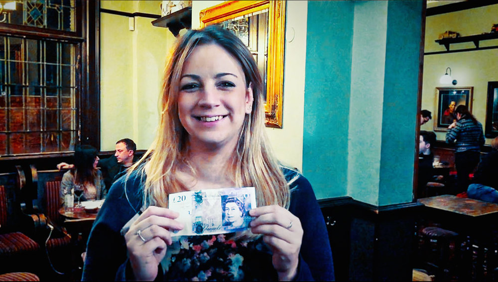 Hazel's been coming to the Quiz for years but only won her first Wild Card in the last few weeks… she won £20 again tonight.