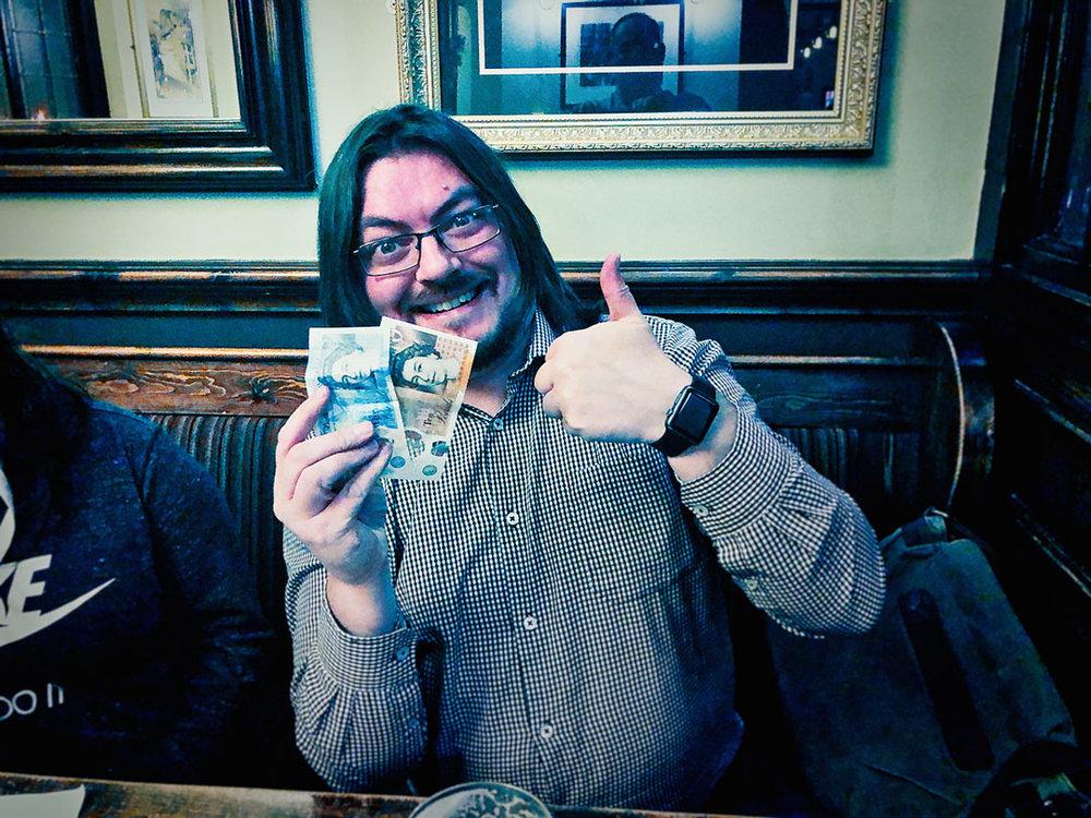 Jon F's crap maths won him £15 on the Wild Card!