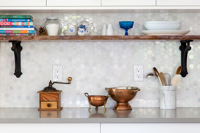 kitchen shelf: thehousediaries.com