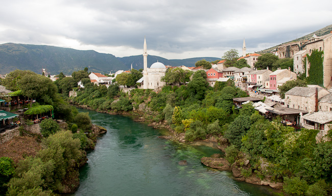 The Neretva River and its trademark green waters.