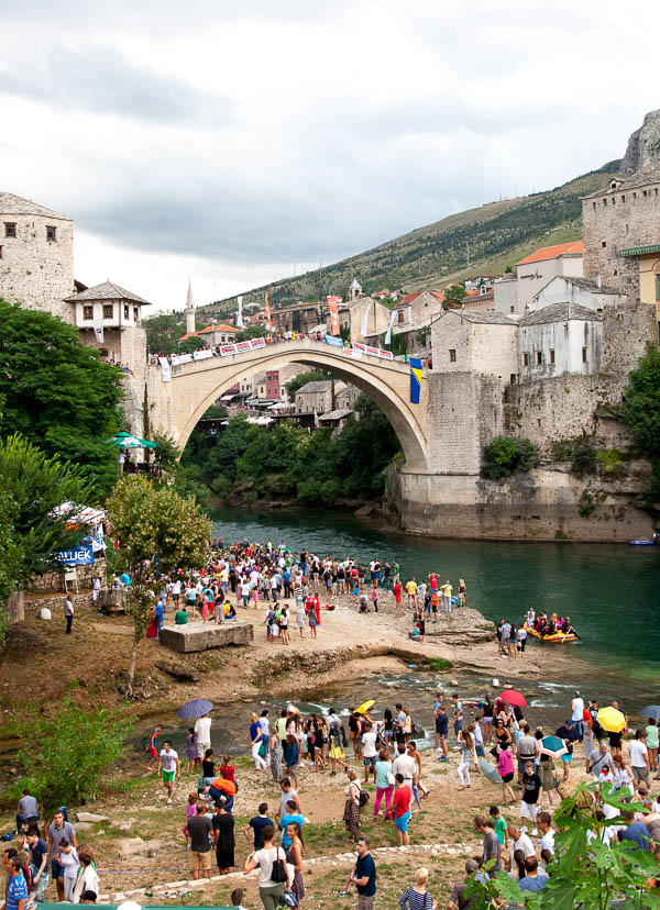 Stari Most--the famous old bridge after which Mostar was named.