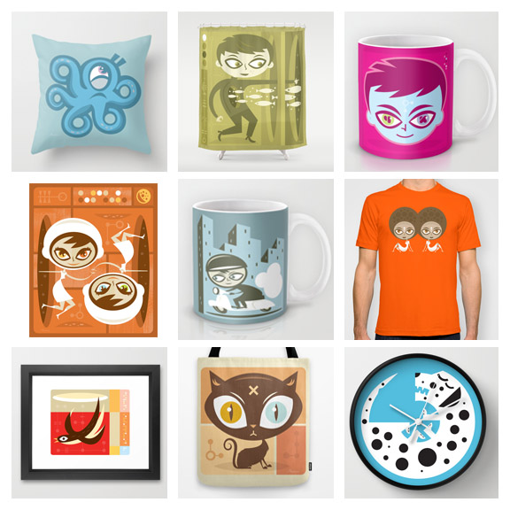 Prints   Prints and products are now available from the good people at  Society6 .