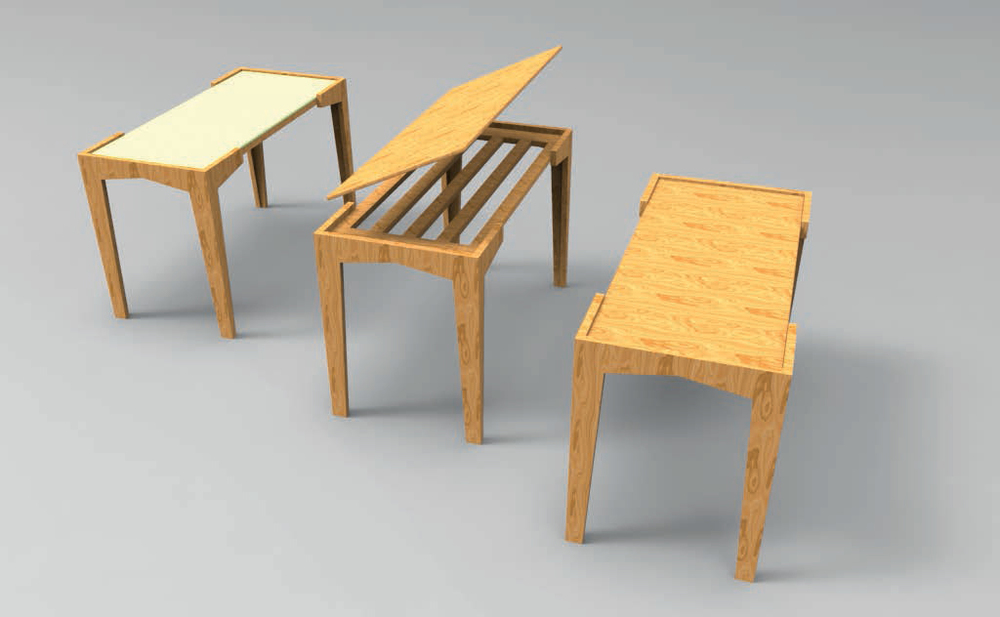 Versatility . Different views give different feeling and decreases the chance of changing the desk.