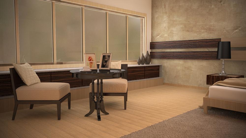 Master Bedroom. Tea Time.