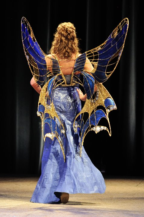 butterfly dress walking on runway ADCD fashion show 2012,  CC BY-NC-ND, with special permission via Dave Ingraham