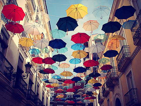 Umbrella's have long been used as inspiration, and muses. An umbrella as an accessory can catch just the right amount of color to make a splash. An umbrella, can set you apart from the crowd.