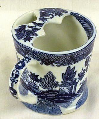 Blue Willow Mustache Mug. Perfect for protecting that mustache.
