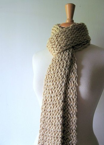BEIGE CHUNKY SCARF   BEIGE CHUNKY SCARF  HANDMADE BY  BEAUTIFUL BRIDGET  ON ETSY.