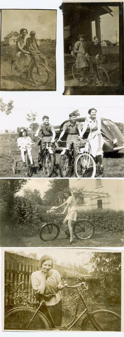 Lovely and romantic vintage bicycle photos from days gone by at Troubadour Vintage.