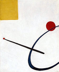 "Alexander Calder's Paining ""untitled"", the inspiration for the Anne Walker Studio pendant seen here."