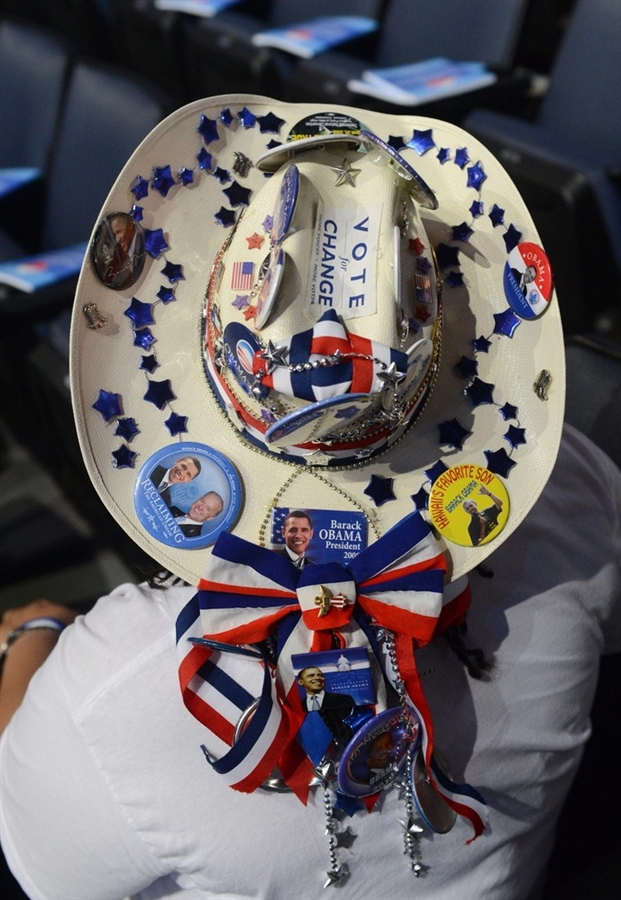 Texas Democrats wear cowboy hats too.  This one is just amazing. Love the decorations