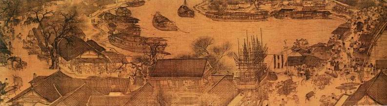 Ancient view of Kaifeng, China. In 1200 it was the world's largest city. Image via: Wikimedia Commons, Public Domain.