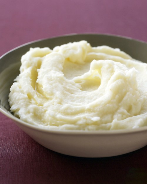 Fluffy, creamy, whipped mashed potatoes.
