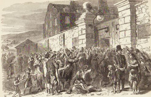 Great Irish Potato Famine - Scene at the workhouse