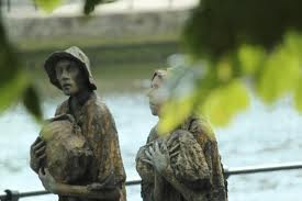 Statues commerating Great Irish Potato Famine