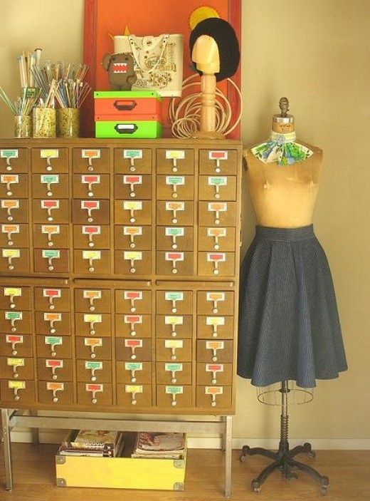 Sewing and craft storage and organization