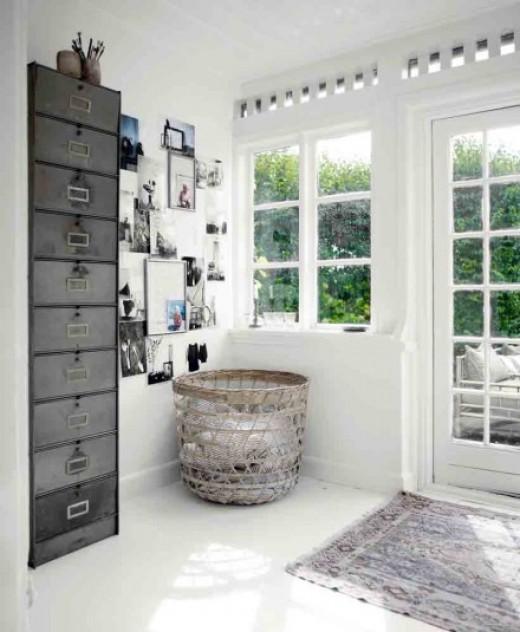 Fantastic  Vintage Steel Metal Office Paper Storage Filing Cabinet  Haute