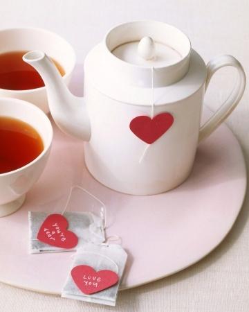 Heart shaped tea bag tags