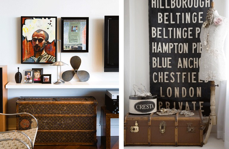 Vintage Trunks And Suitcases Decor Storage The Pretty Life