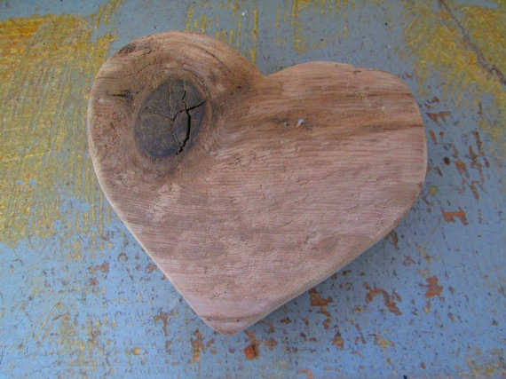 A Large Driftwood Heart Cut Out One of a Kind Original Free Standing Heart Woodworking Supplies --  TINKER'S ATTIC .