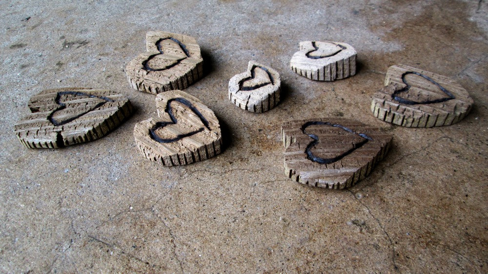 Lot of 7 Rustic Driftwood Heart Cut Outs With Wood Burned Design Lake Michigan Supply from  Tinker's Attic .