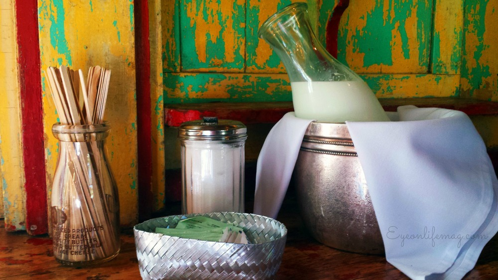 breakfast organic fresh cream and stir sticks at Los Poblanos New Mexico.jpg