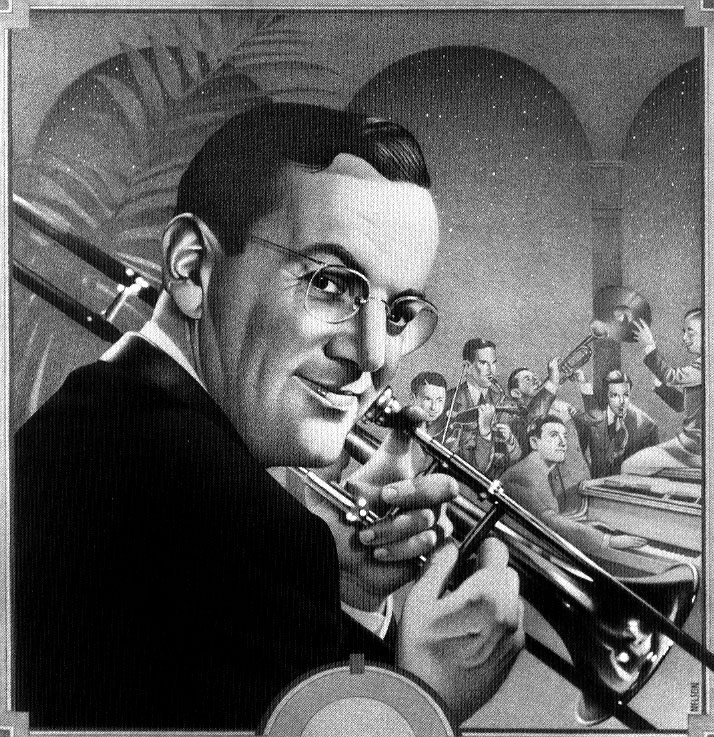 In 1944, American big band musician, arranger, composer, and bandleader Glenn Miller was on his way to play for troops in Paris.  His flight disappeared over the English channel, never to be seen again.