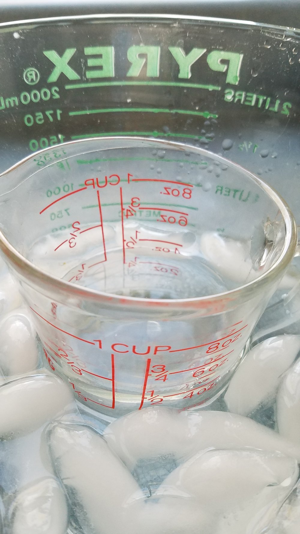 Pull cold water from actual ice water