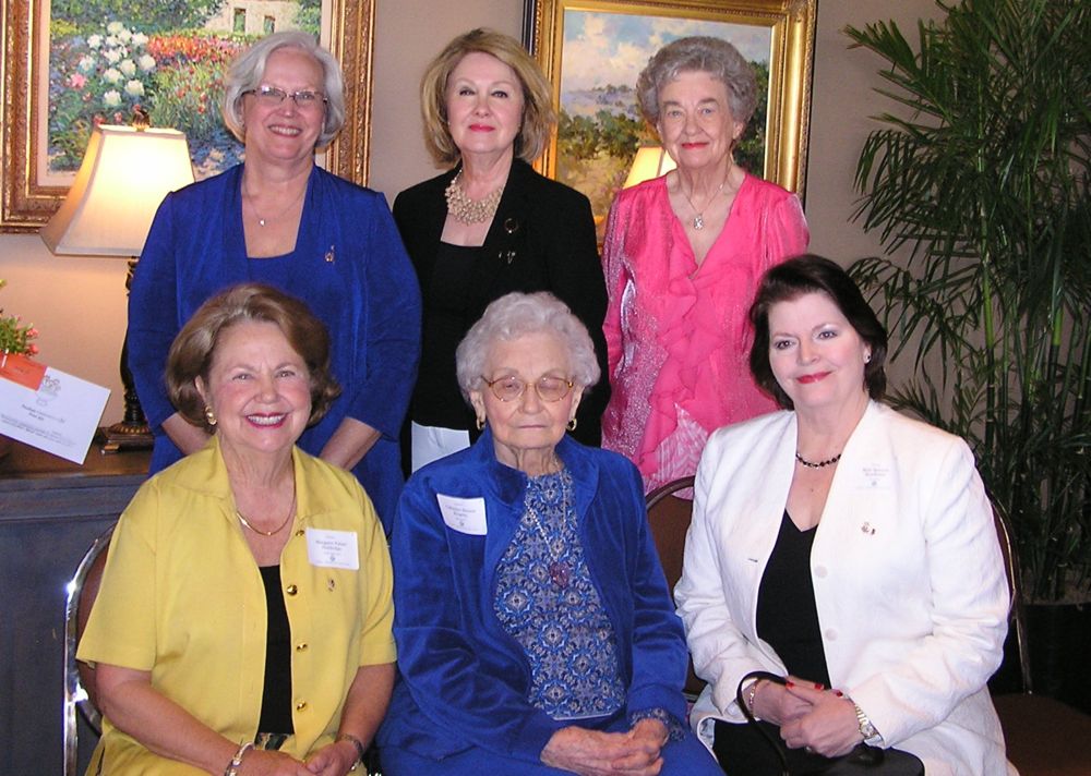 Front row - Margaret Patzer Holdridge, Catharine Benson Kingsley, Blair Spencer Brockman,  Back row, Katie Kates Nelson,  Patti Gravett Smith, and Carolyn Crawford Welch.
