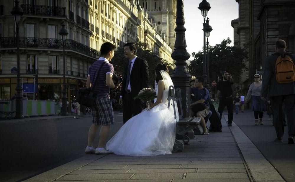 Beware. Happy nearly newlyweds are everywhere.
