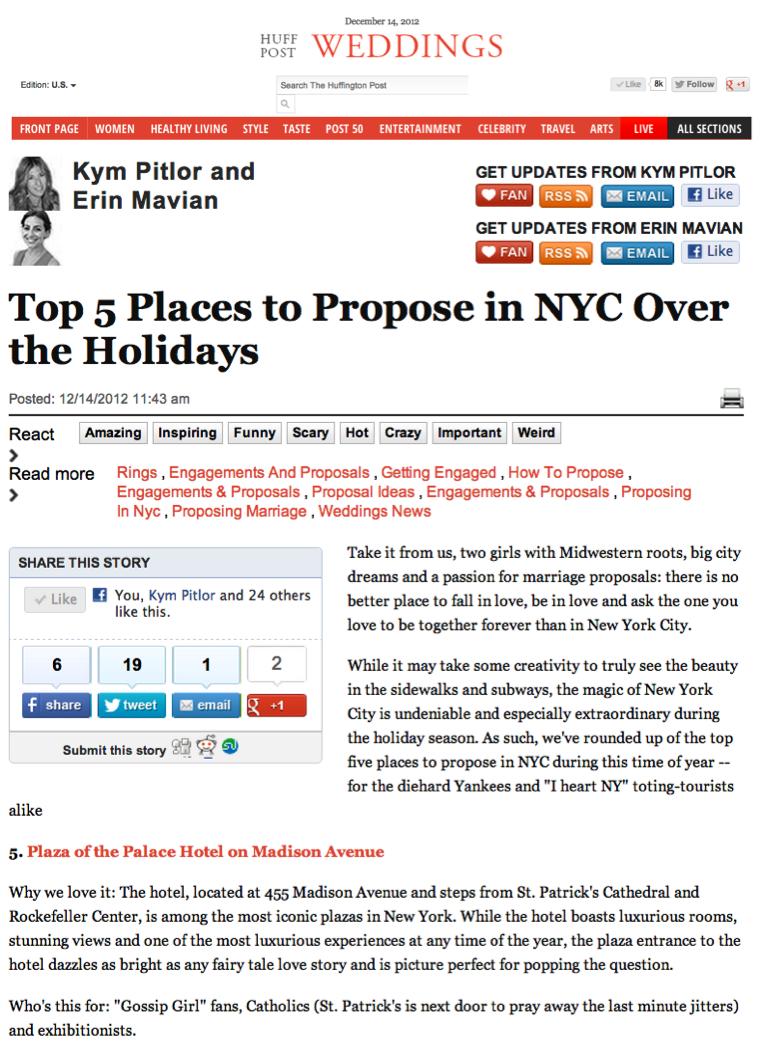 Huffington Post Weddings - Dec 14, 2012