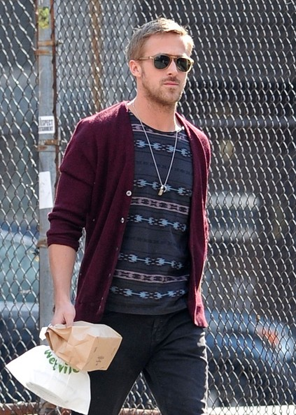 Ryan Gosling will show you how to wear a manly cardigan.