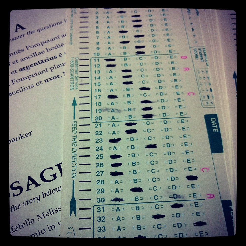 I know, Scantron tests are bad. But they preserve my sanity...