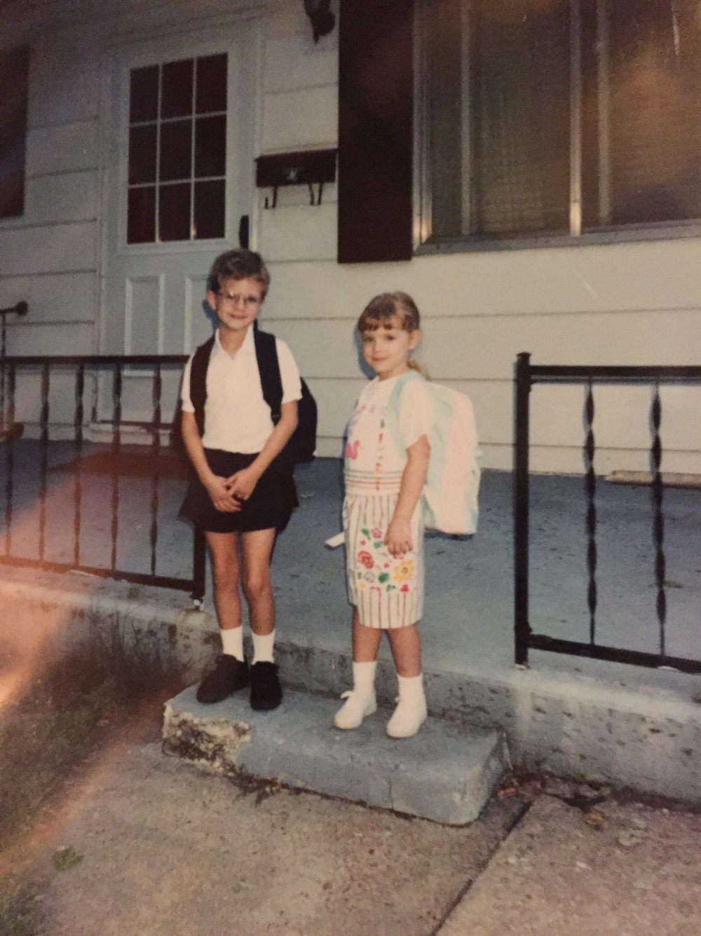 I always liked the first day of school. I'd guess this was second grade.