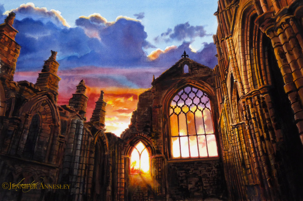 """Gothic Sunrise"" <span style=""color:red; font-family:BODONI; font-size:.8em;"">Sold</span>"