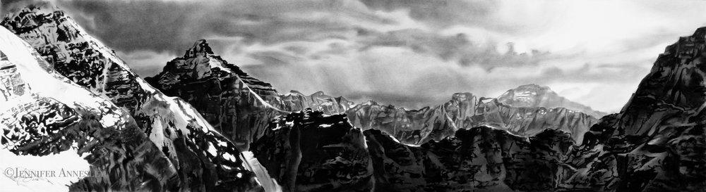 Winter's Approach, Abbott Pass