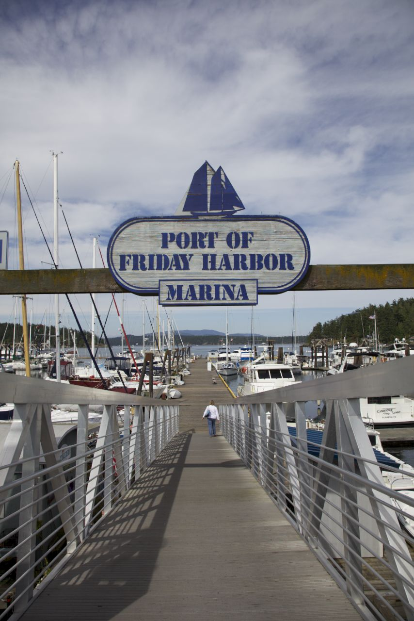 The dock at Friday Harbor