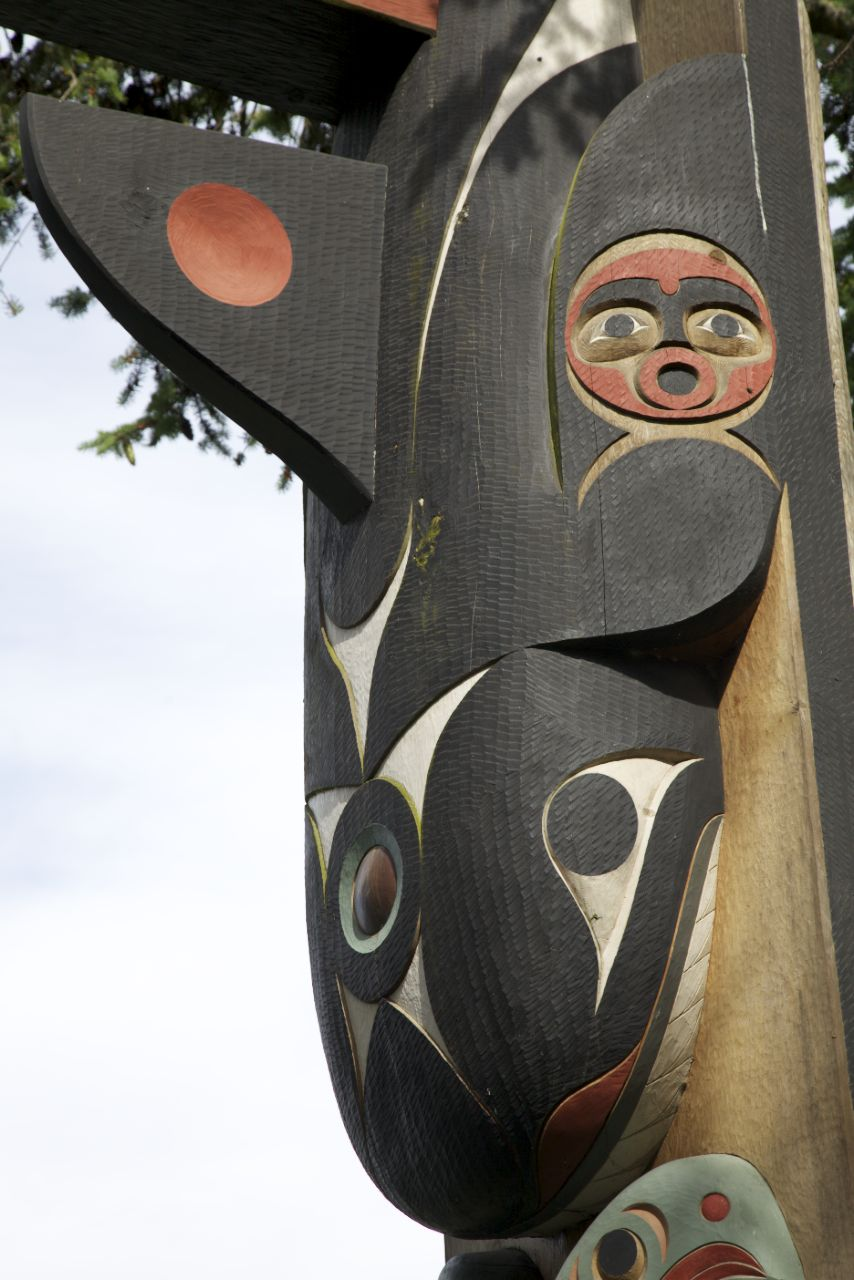 Totem pole in Friday Harbor