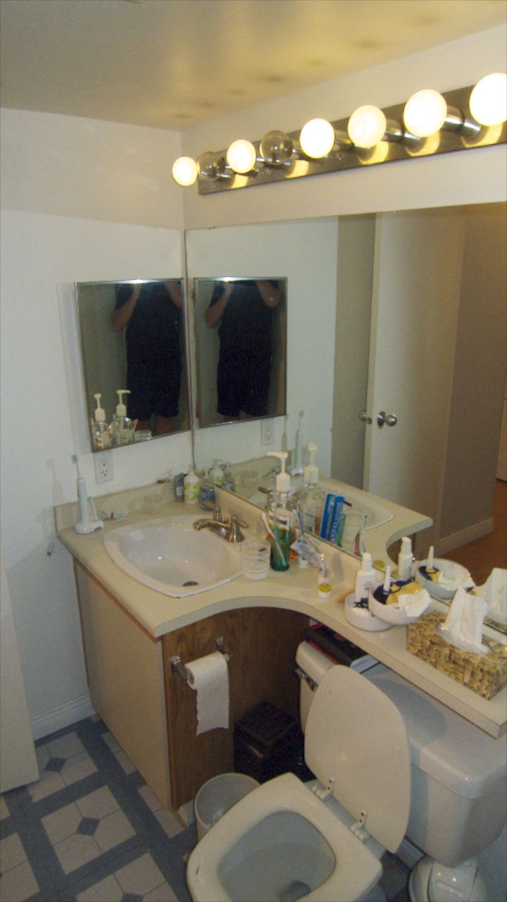 The old bathroom