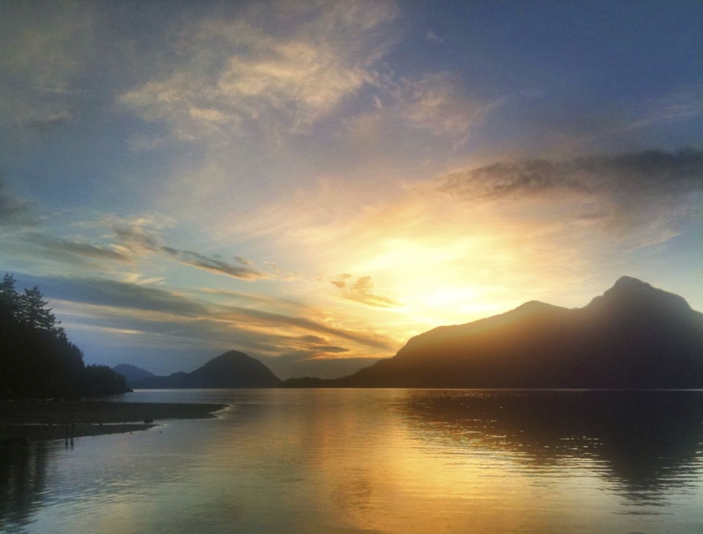 Awesome sunset at Porteau Cove.