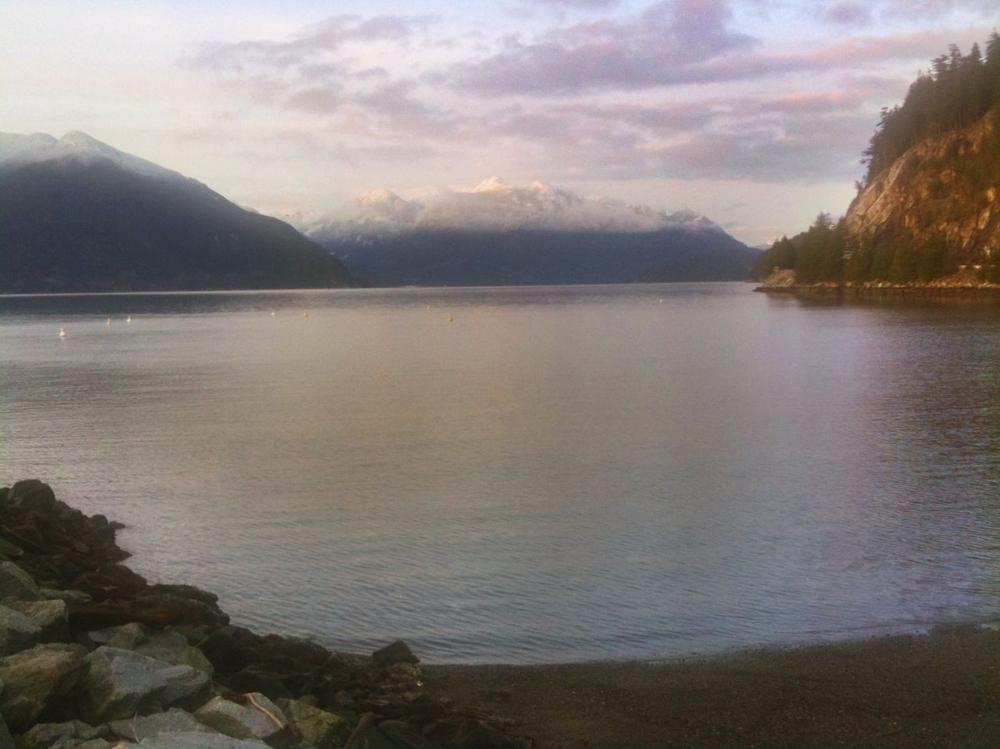 Sunset at Porteau Cove.